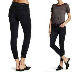 Current/Elliot Stiletto Skinny Jeans Slit Ankle